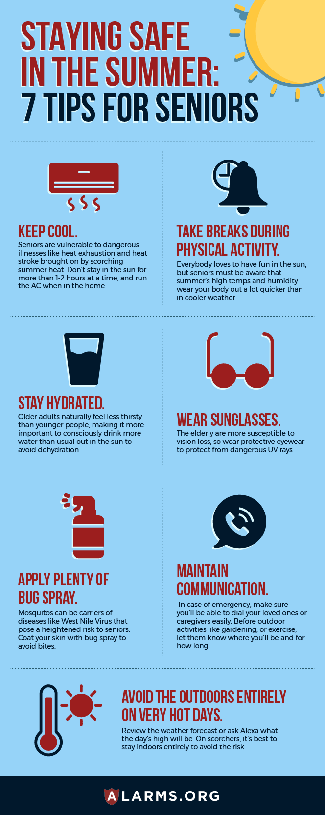 infographic: senior summer safety