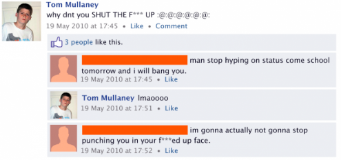 cyberbullying on facebook