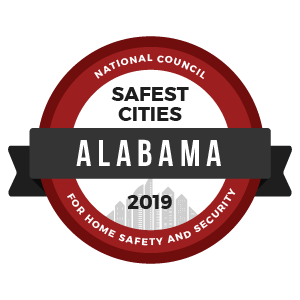 Safest Cities Alabama - badge