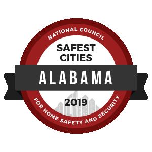 Safest Cities Alabama - badge