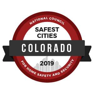 Safest Cities Colorado - badge