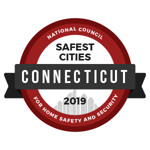 Safest Cities Connecticut - badge