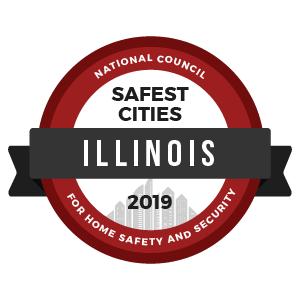 Safest Cities Illinois - badge