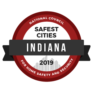 Safest Cities Indiana - badge