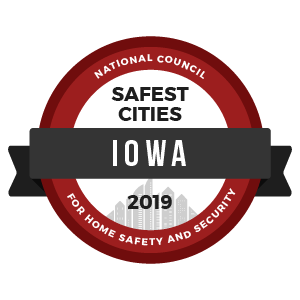 Safest Cities Iowa - badge