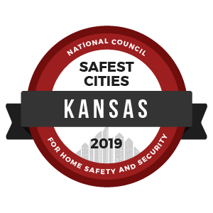 Safest Cities Kansas - badge