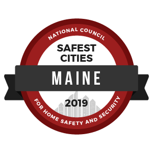 Safest Cities Maine - badge