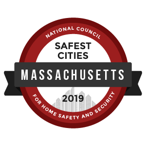 Safest Cities Massachusetts - badge