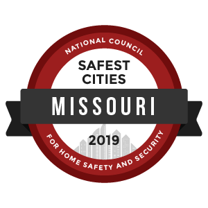 Safest Cities Missouri - badge