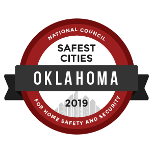 Safest Cities Oklahoma - badge