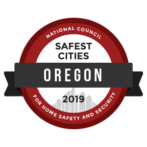 Safest Cities Oregon - badge