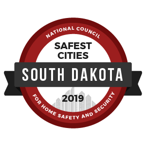 Safest Cities South Dakota - badge