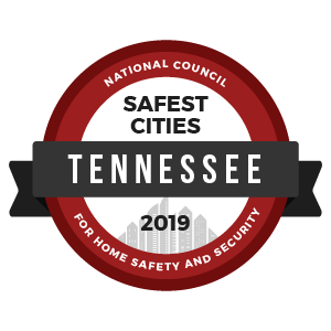 Safest Cities Tennessee - badge