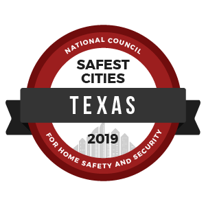 Safest Cities Texas - badge
