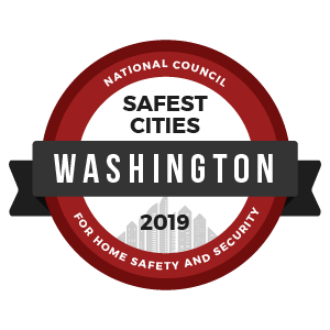 Safest Cities Washington - badge