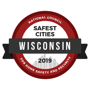 Safest Cities Wisconsin - badge