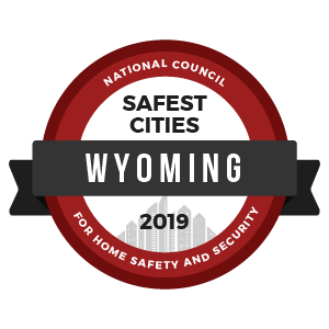 Safest Cities Wyoming - badge