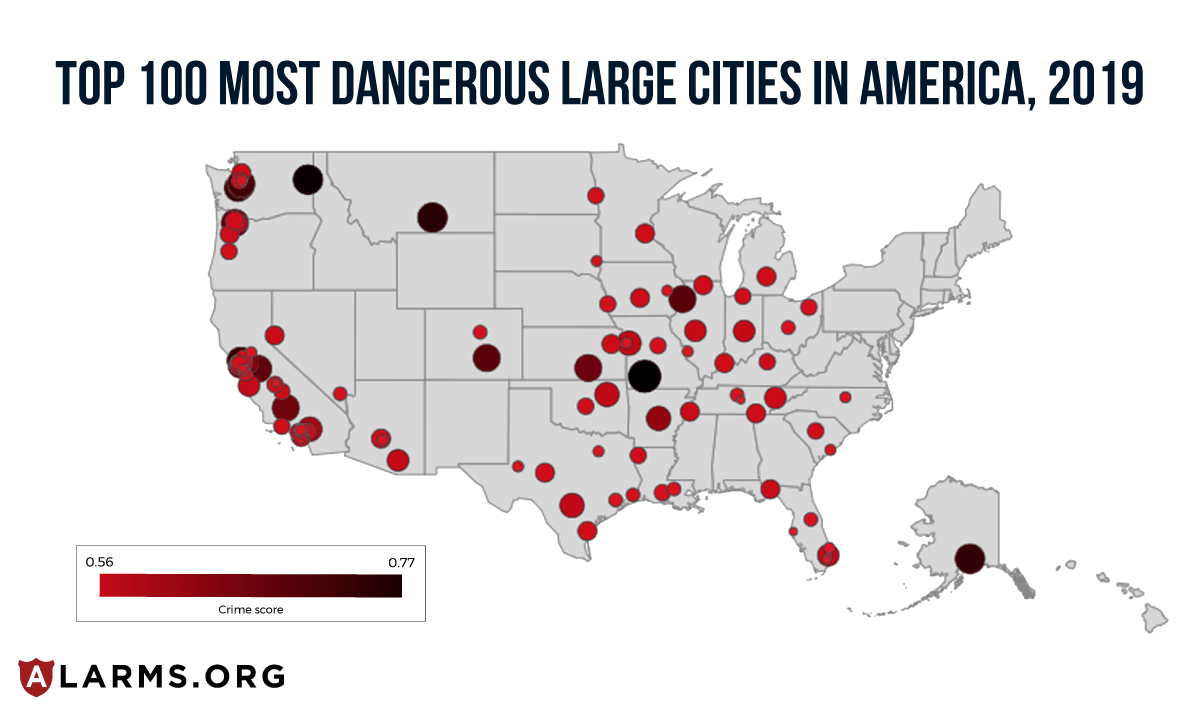 MostDangerousLargeCIties heatmap 2