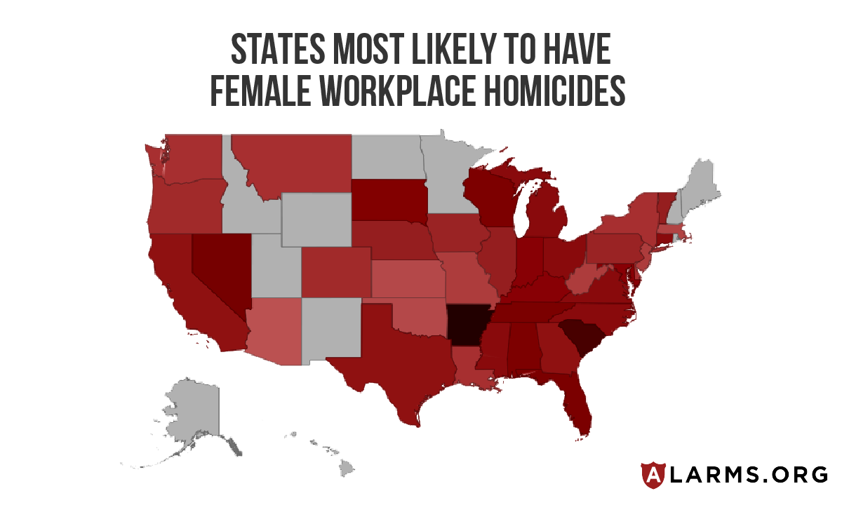female homicide heat map