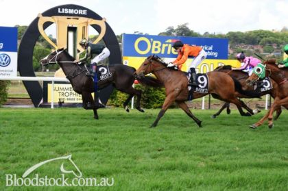 Chase the Future winning at Lismore