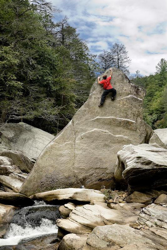 Mark Osbourne bouldering