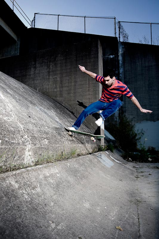 Daniel Brechner skates at the Metro Sewer District Overflow.