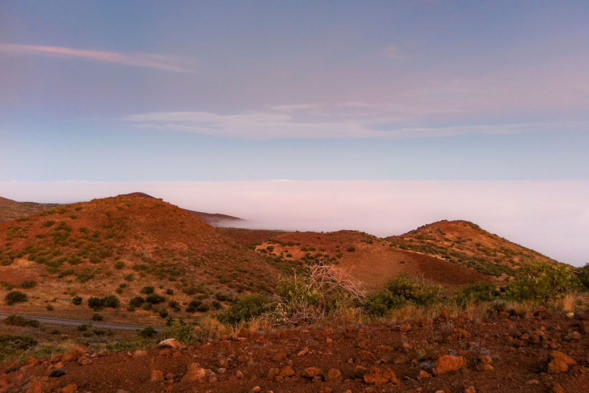 The summit of Mauna Kea at 4000m