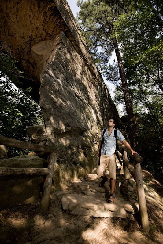 Stephen Woodward takes a day off from rock climbing to enjoy the gorgeous area of Natural Bridge State Park.