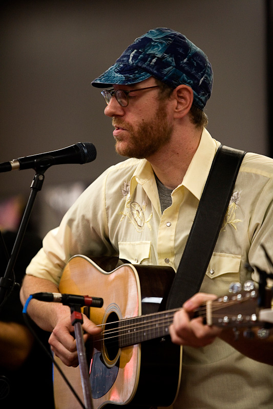 Jonathon Wood performs at local record store.
