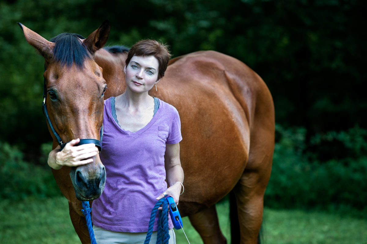 Jaime Corum with her horse