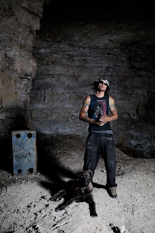Shadow Ayala and his dog, Sumo.
