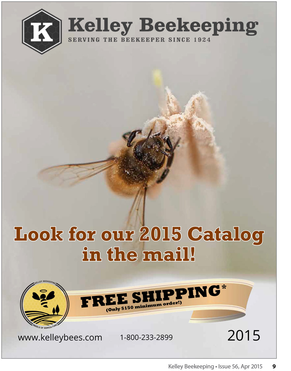 A honeybee on a Moonflower on the cover of Kelley Beekeeping Catalogue