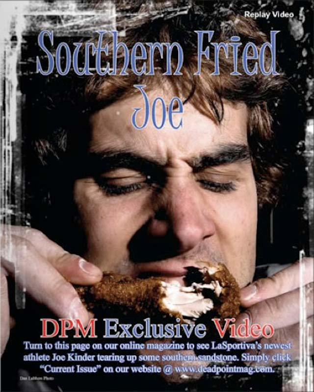 Joe Kinder takes a bite out of some Southern Fried Chicken