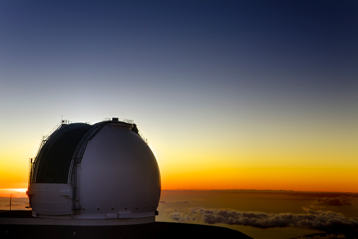 The W.M. Keck Observatory.