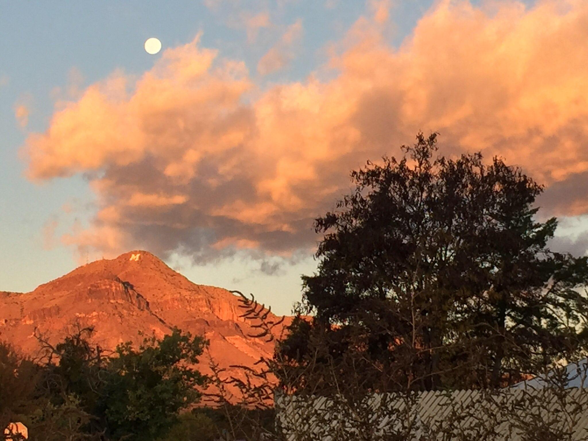 full moon over m Mountain