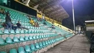 Estádio estava quase vazio nesta quarta