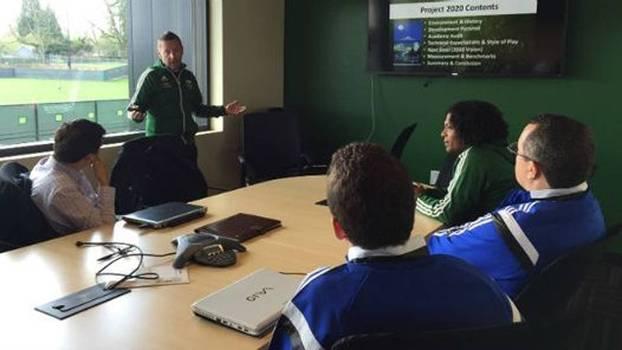 Reunião entre representantes do Portland Timbers e do Sport