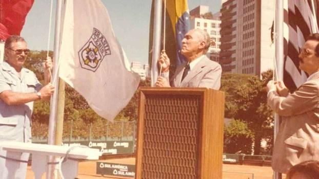 Presidente do COB, Sylvio de Magalhães Padilha, em evento da Federação Paulista de Tênis (FPT)