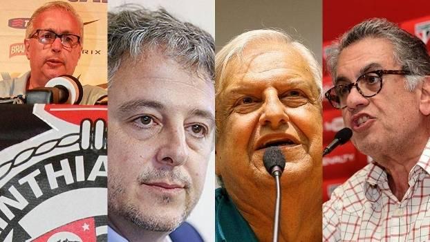 Presidentes dos quatro grandes clubes de São Paulo: déficits milionários em 2014