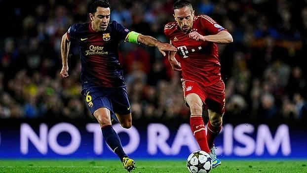 Na Champions League de 2012/13, o Bayern atropelou o Barcelona nos dois jogos das semifinais