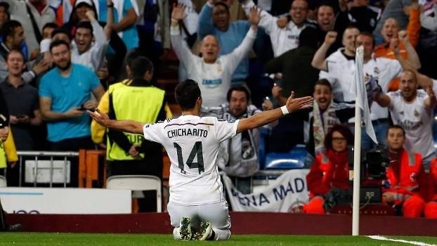 Chicharito fez o gol da vitória e da classificação do Real Madrid