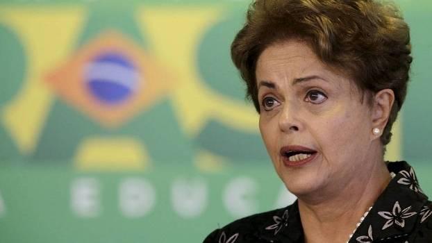 Presidenta Dilma Rousseff durante evento que regularizou a MP do futebol