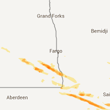 Hail Map for fargo-nd 2013-08-06