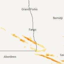 Hail Map for fargo-nd 2013-08-06