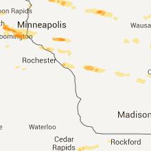 Hail Map for la-crosse-wi 2013-08-06