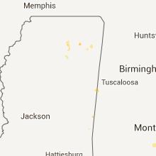 Hail Map for starkville-ms 2013-08-06