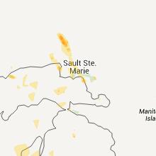 Regional Hail Map for Sault Sainte Marie, MI - Sunday, July 17, 2011