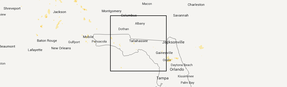 Hail Map for Tallahassee, FL - Wednesday, May 30, 2012