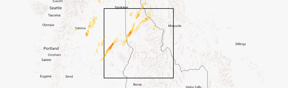 Kendrick Idaho Map.Interactive Hail Maps Hail Map For Kendrick Id