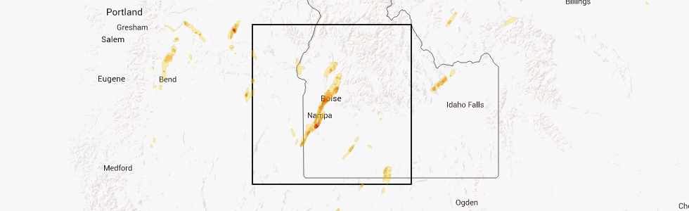 Melba Idaho Map.Interactive Hail Maps Hail Map For Melba Id